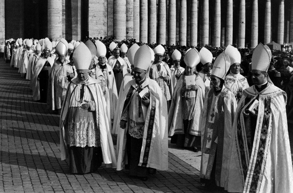 Vatican Ecumenical Council and Ecumenical Procession, Rome, 1962.