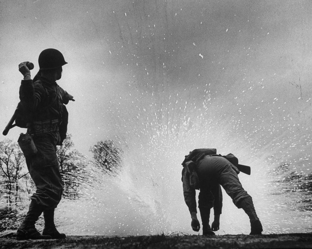 Training for chemical warfare, Maryland, 1944.
