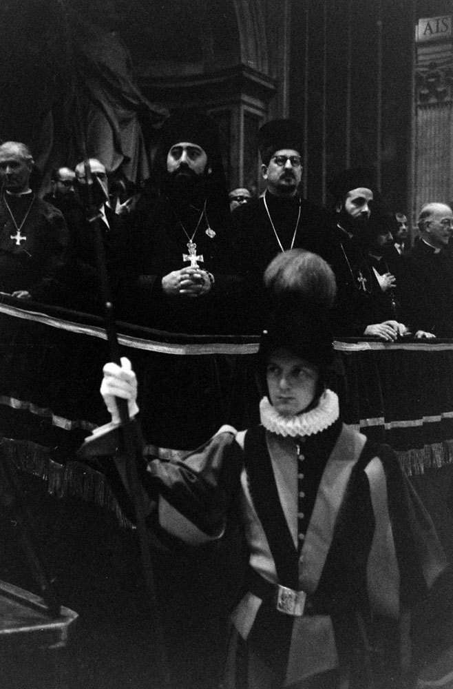 Scene during the Second Vatican Ecumenical Council, 1962.