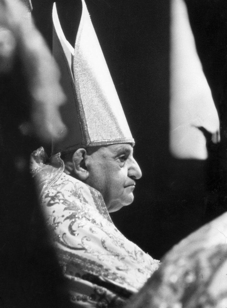 Pope John XXIII during the Second Vatican Ecumenical Council, 1962.