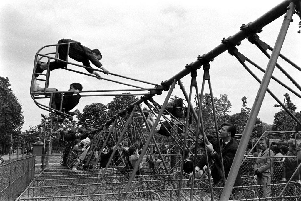 Children at play, Paris, 1963.