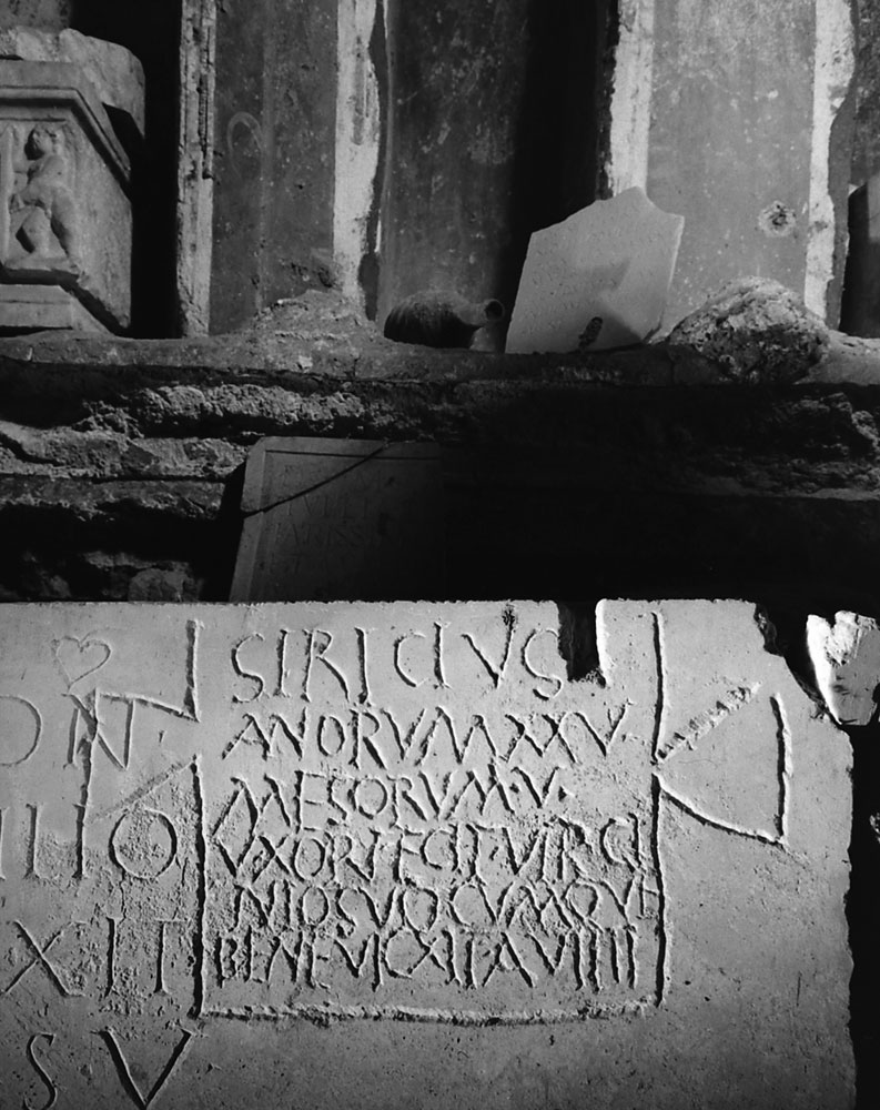Inscription revealed during the excavation beneath St. Peter's in Rome, 1950.