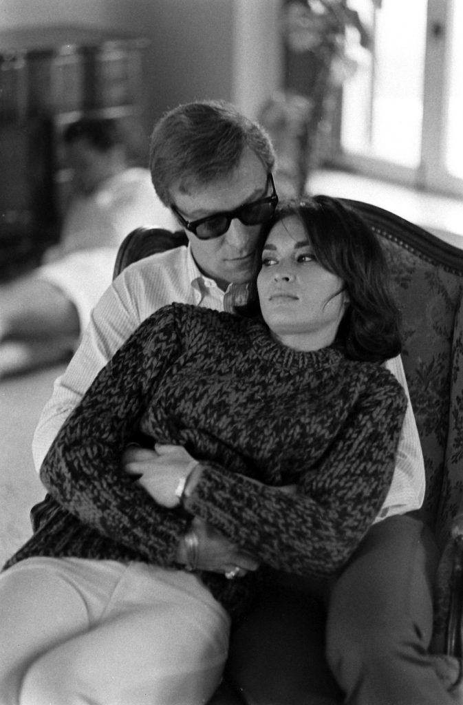 Michael Caine with an unidentified woman in Los Angeles in 1966.
