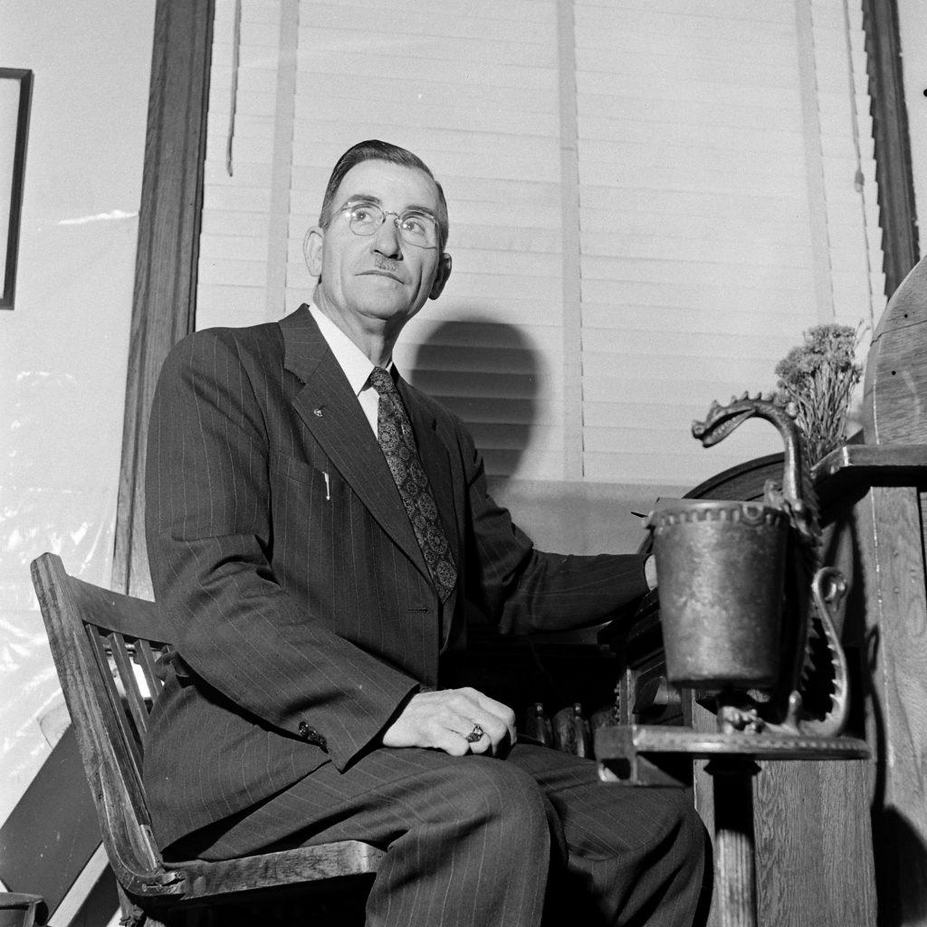 The Grand Dragon of the Fulton County, Ga., Ku Klux Klan, Dr. Samuel Green, May 1946.
