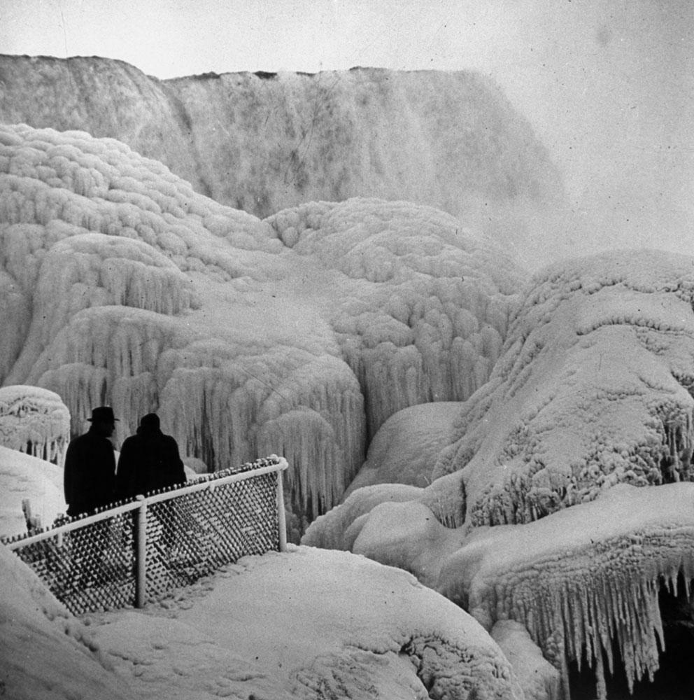 Niagara Falls in winter, 1956.