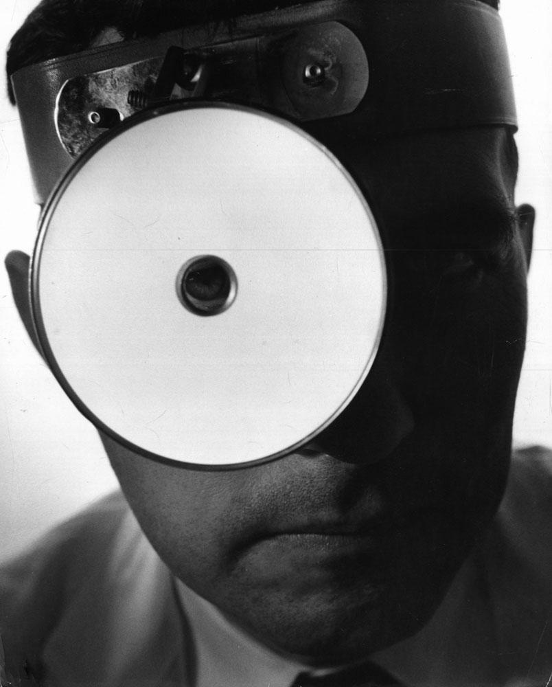 Doctor's head mirror, 1955.