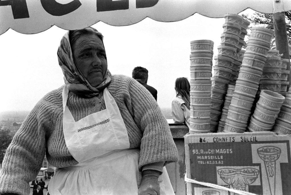 Parisian vendor, 1963.