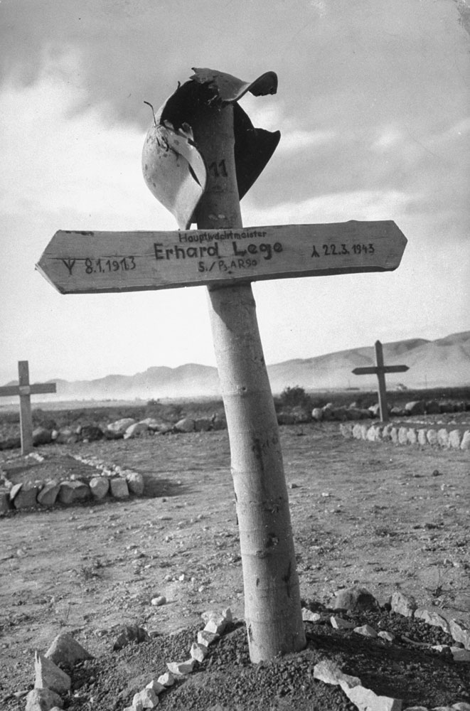 German cemetery, Tunisia, 1943.
