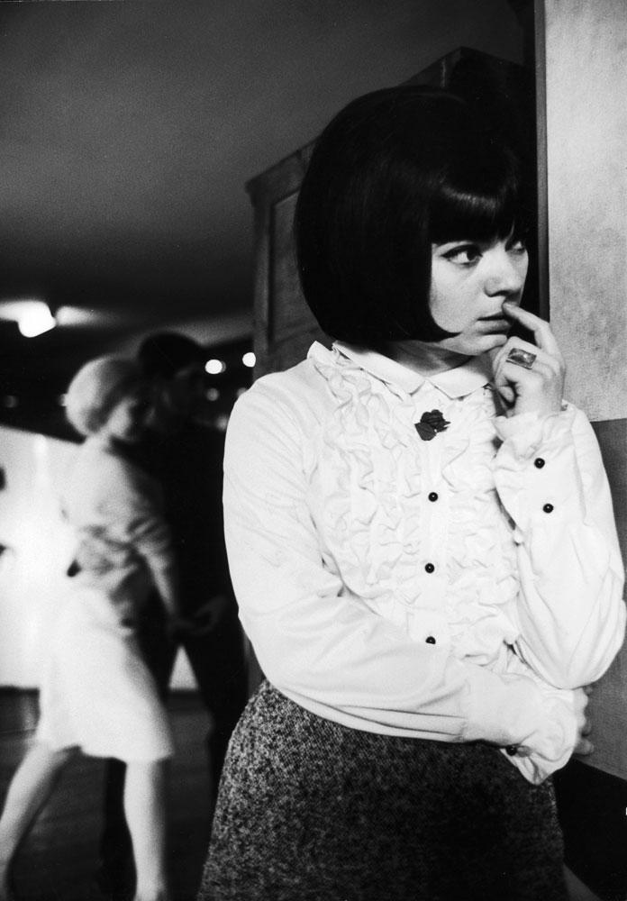 Young Parisian woman at a discotheque, 1963.
