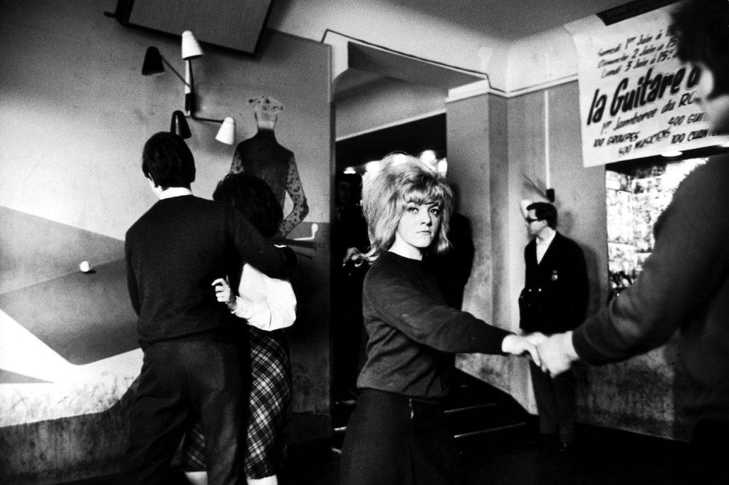 Young Parisians dancing at a discotheque, 1963.