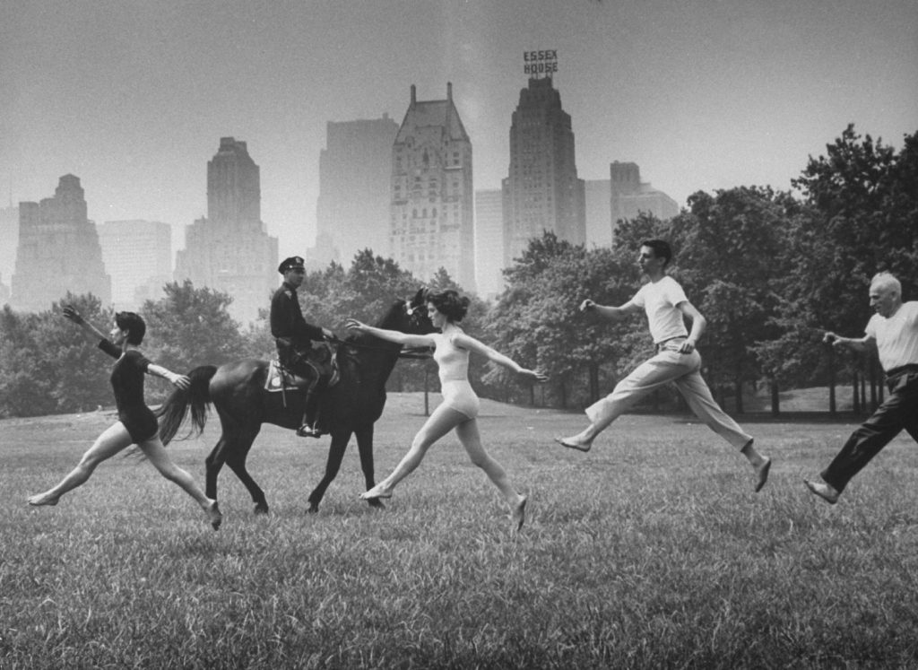 Dancers in Central Park, 1961.
