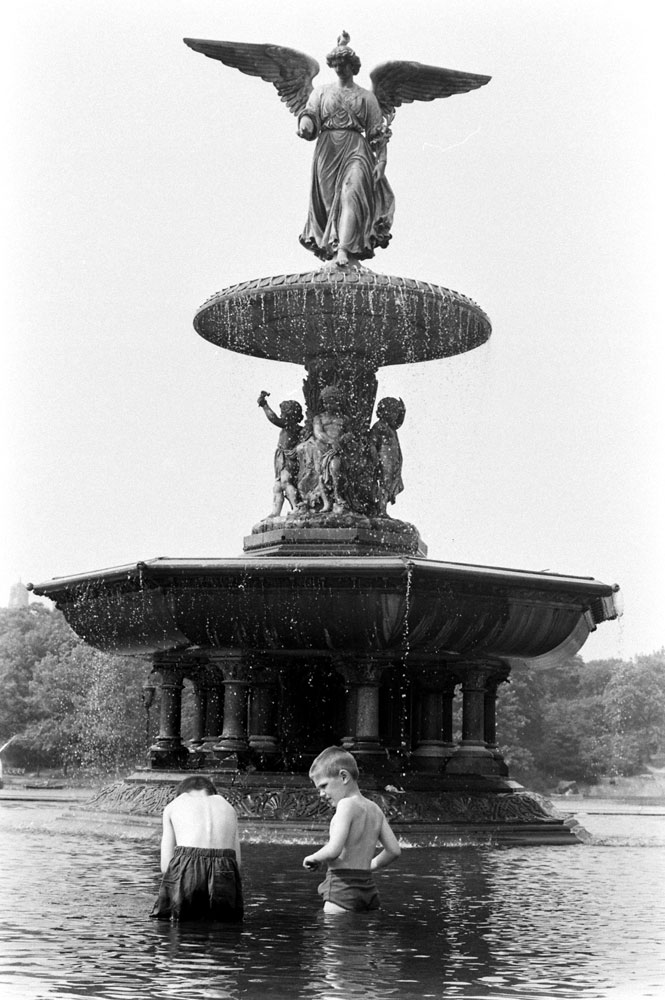 Central Park's Bethesda Fountain, 1961.