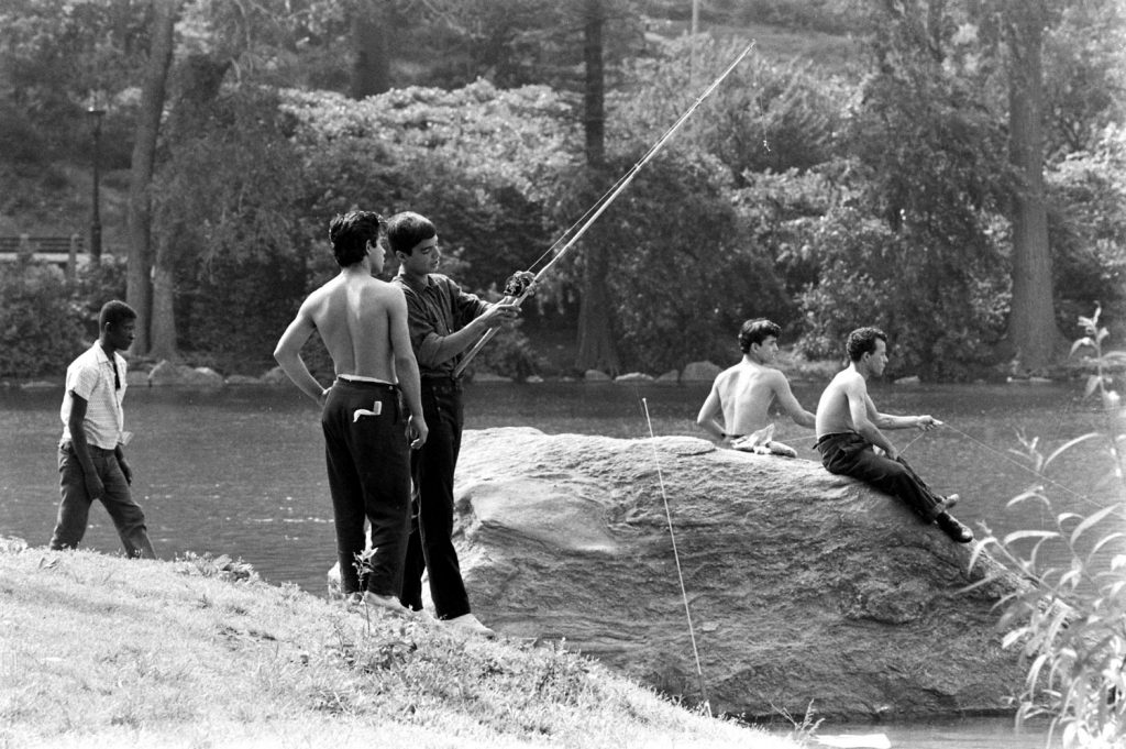 Fishing in Central Park, 1961.