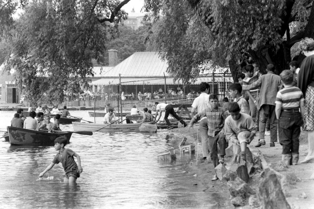 Scene near the Boat House, Central Park, 1961.