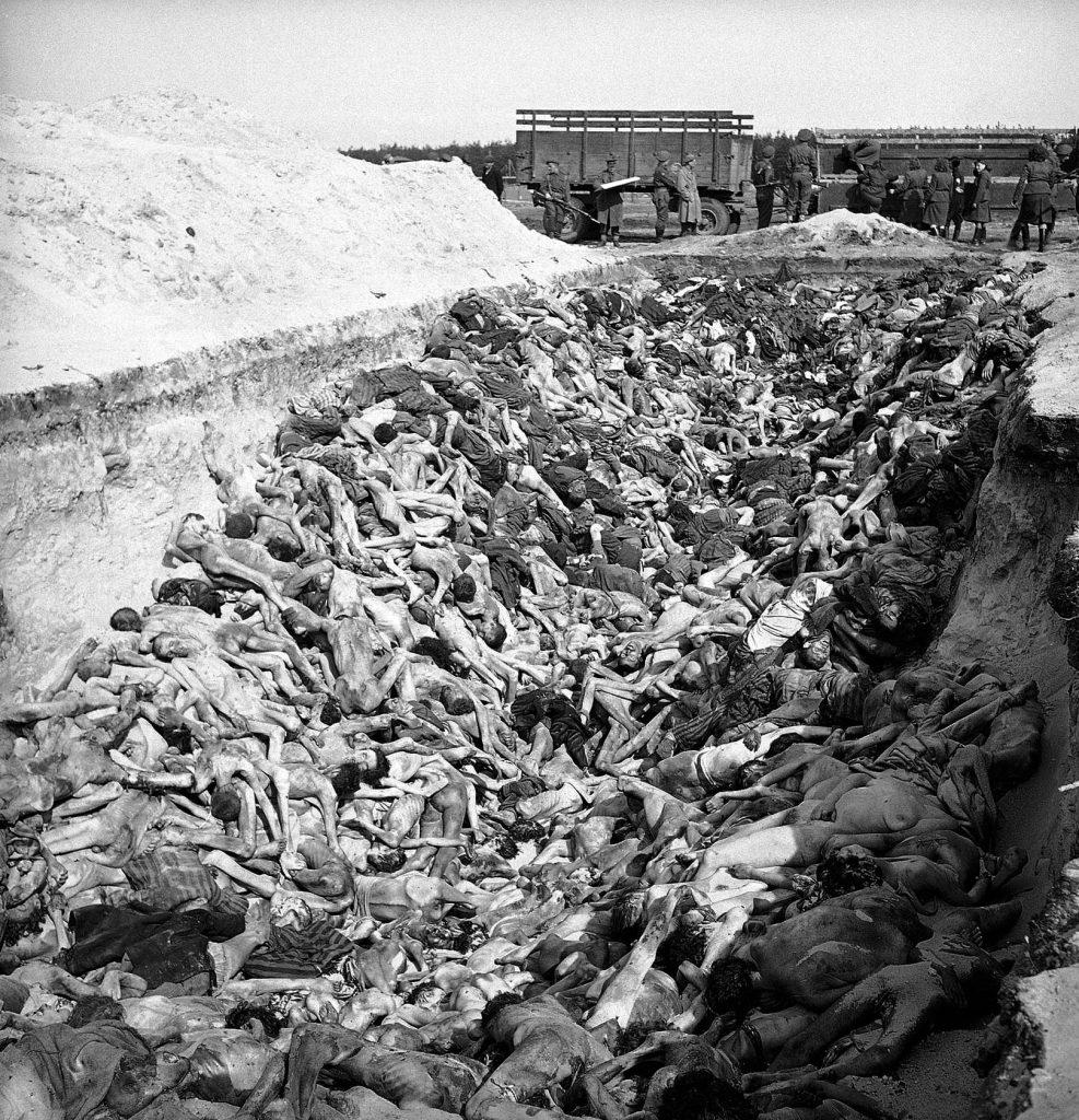 Mass grave at Bergen-Belsen, April 1945.