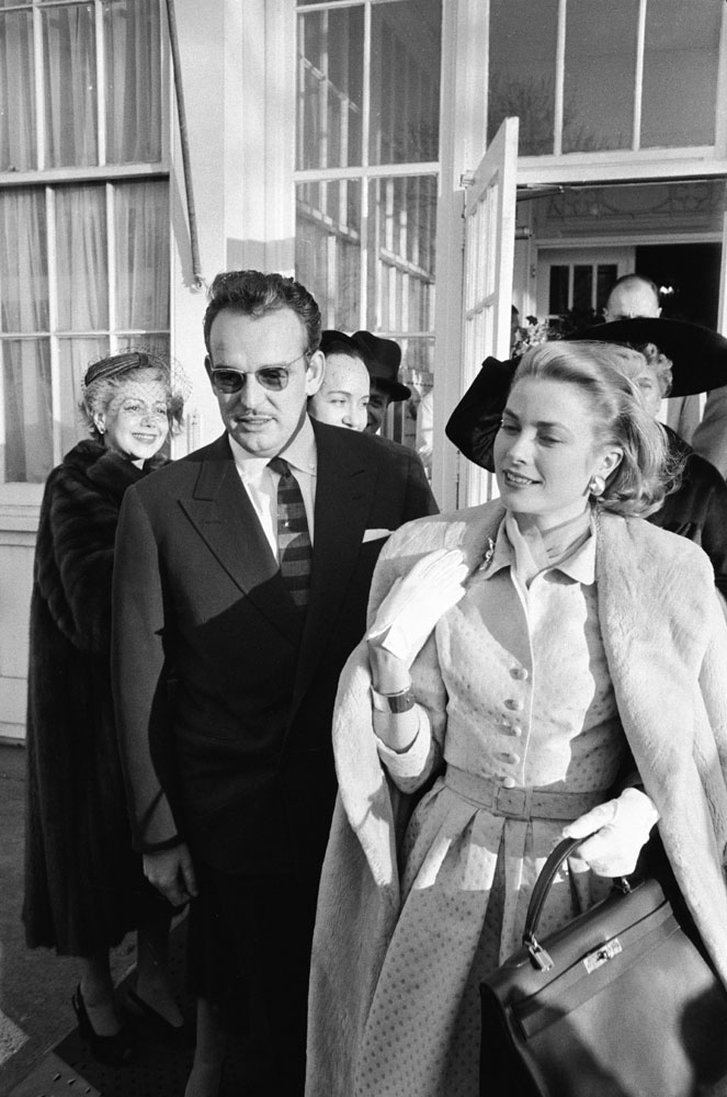 Monaco's Prince Rainier and Grace Kelly at time of the announcement of their engagement, January 1956.
