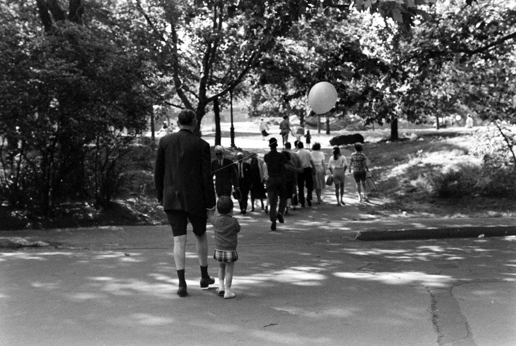 Scene in Central Park, 1961.