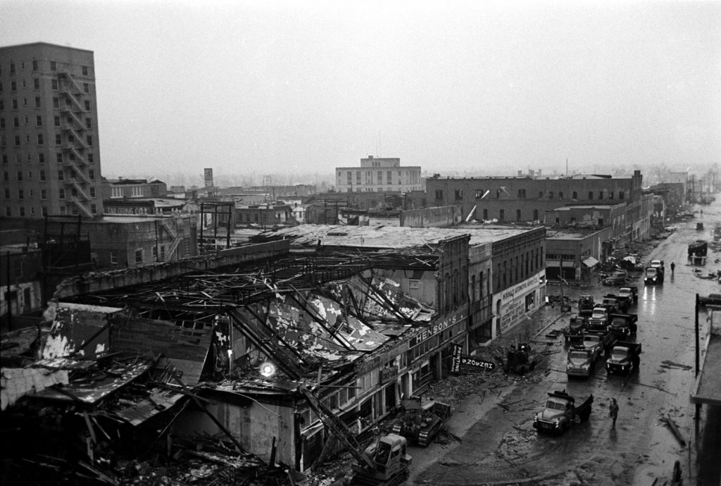Waco, Texas, after an F5 tornado hit the city, May 1953.