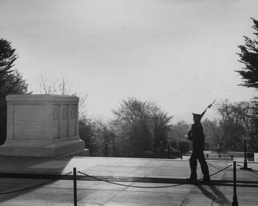 Tomb of the Unknown Soldier, Arlington National Cemetery, 1965.
