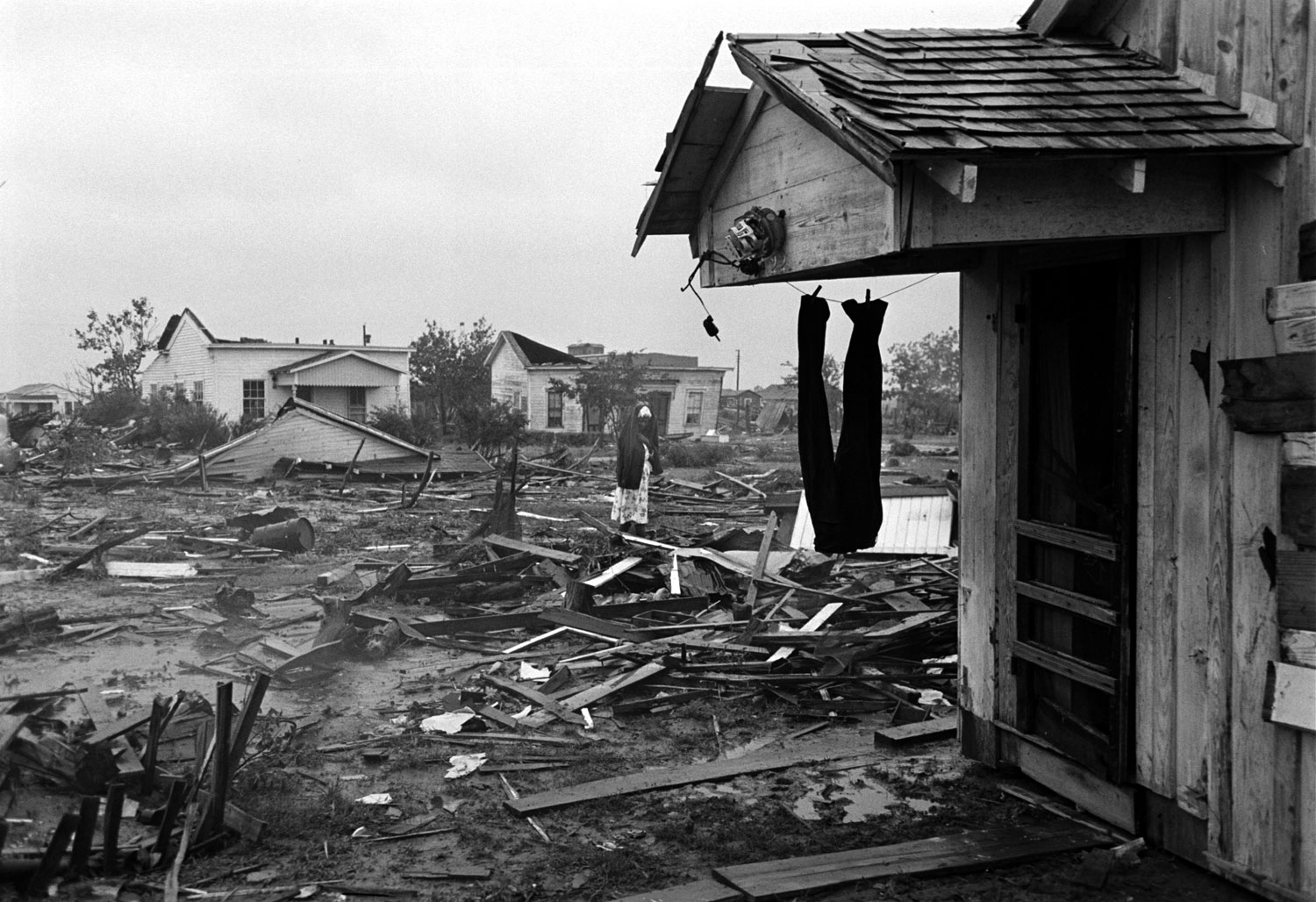 Destroyed homes, Waco, Texas, May 1965.