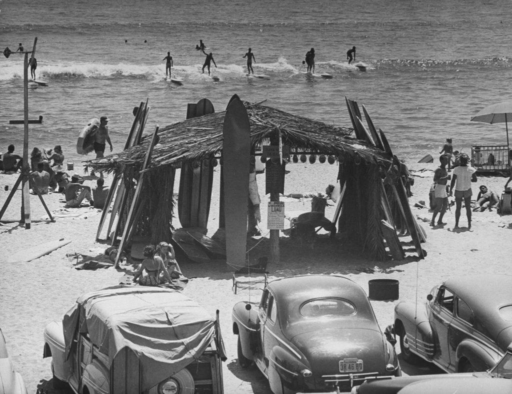 Surfing, California, 1950