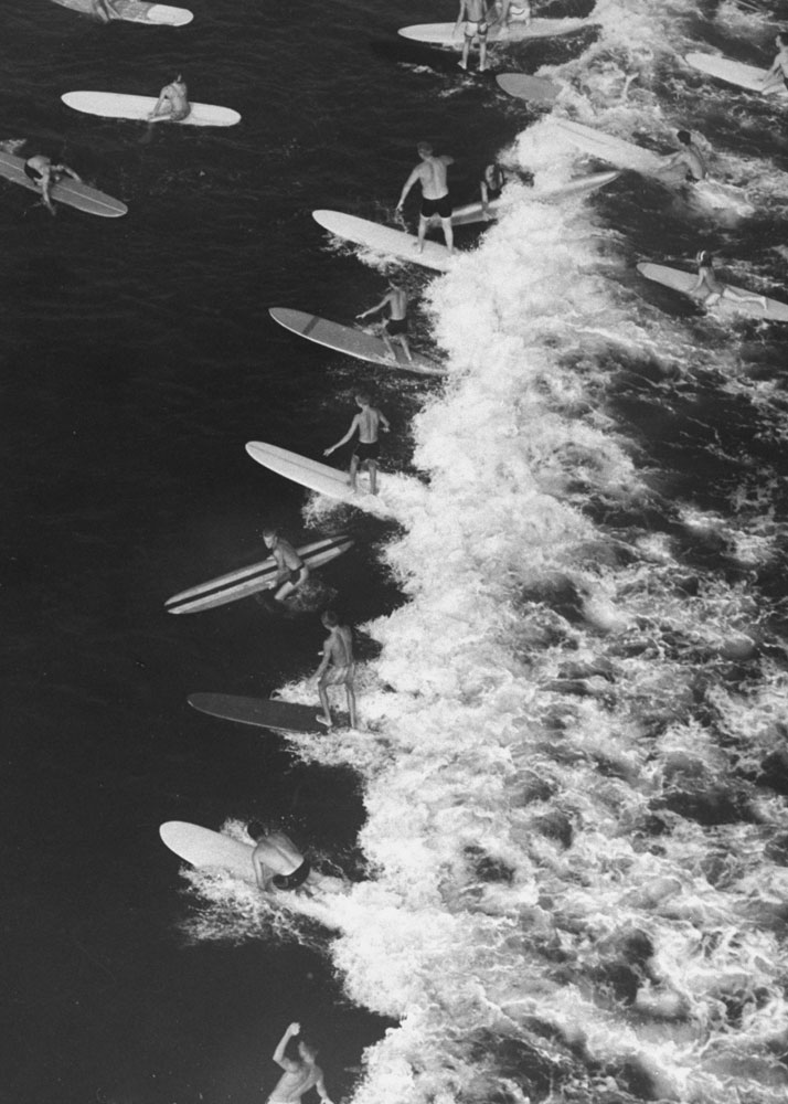 Surfing, Malibu, California 1961
