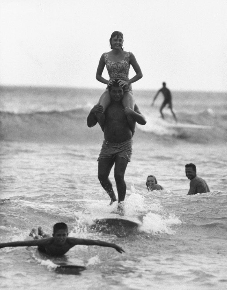 Surfing, Hawaii, 1959