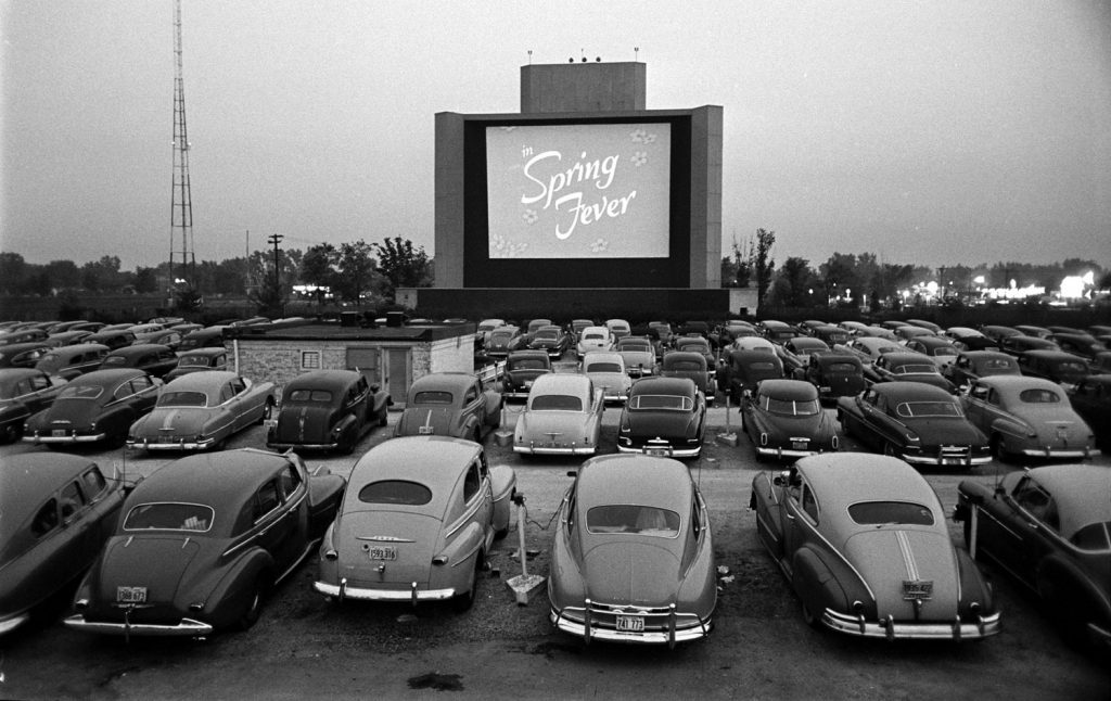 Drive-in theater, Chicago, 1951.