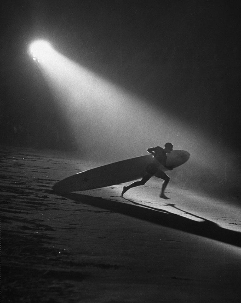 Surfing, Manhattan Beach, Calif., 1965