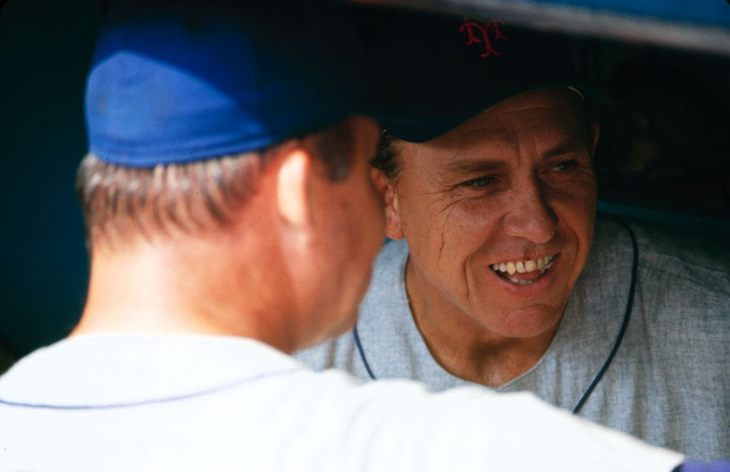 Manager Gil Hodges (right), 1969 Mets.