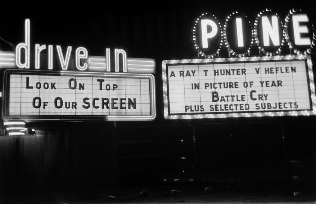 Drive-in theater, Connecticut, 1955.