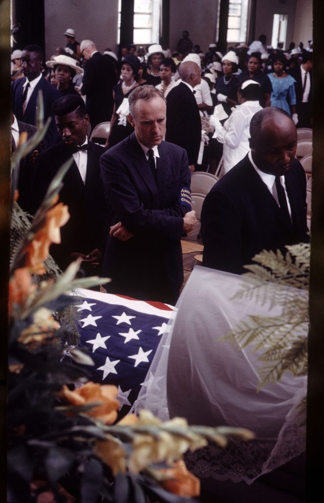 Mourners at Medgar Evers' funeral.