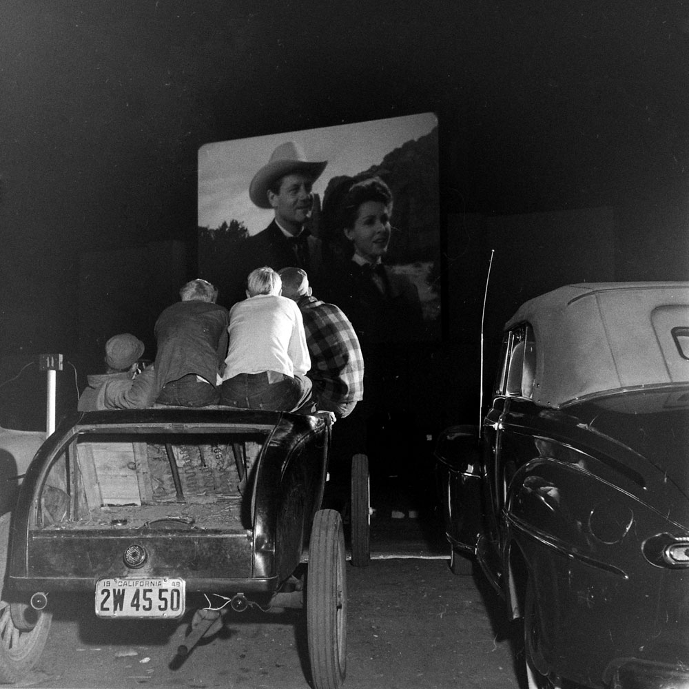 Drive-in theater, San Francisco, 1948.