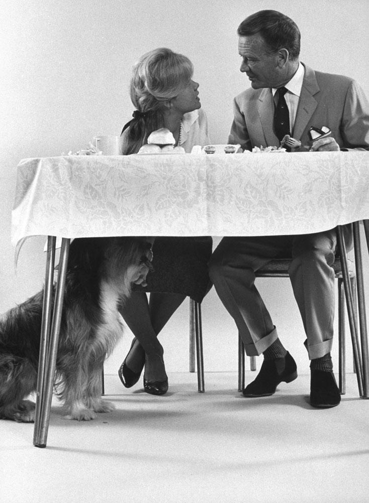 John Mills with daughter Hayley, 1962.