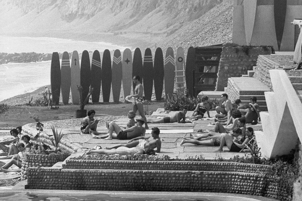 Surfing, Lima, Peru, 1959
