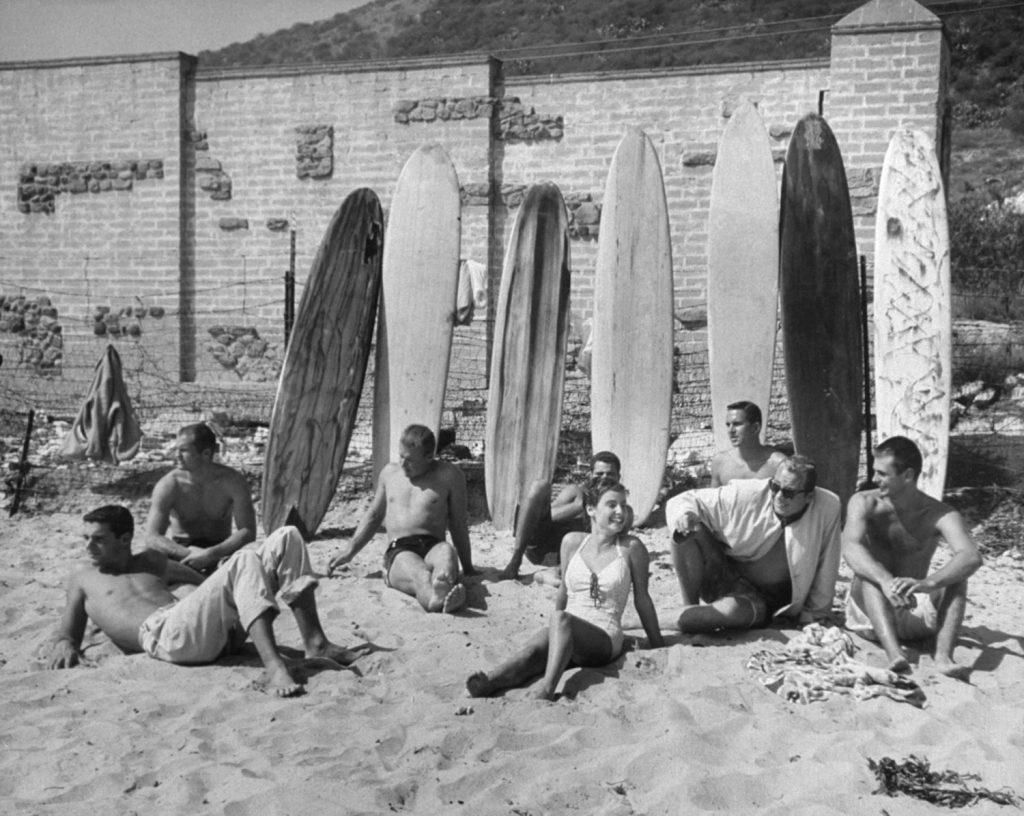 Surfing, Malibu, Calif., 1957