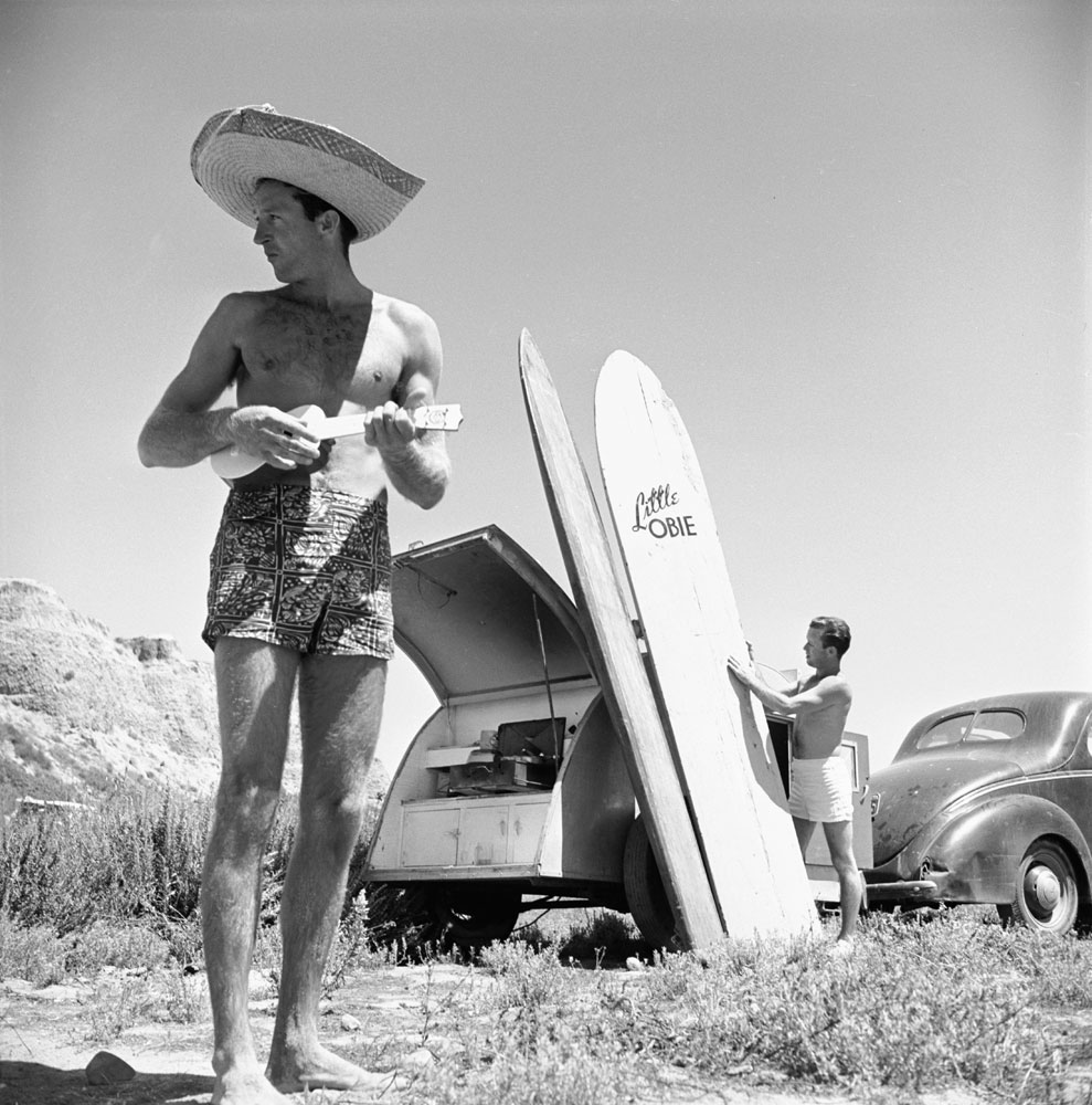 Surfing, San Onofre, Calif., 1950