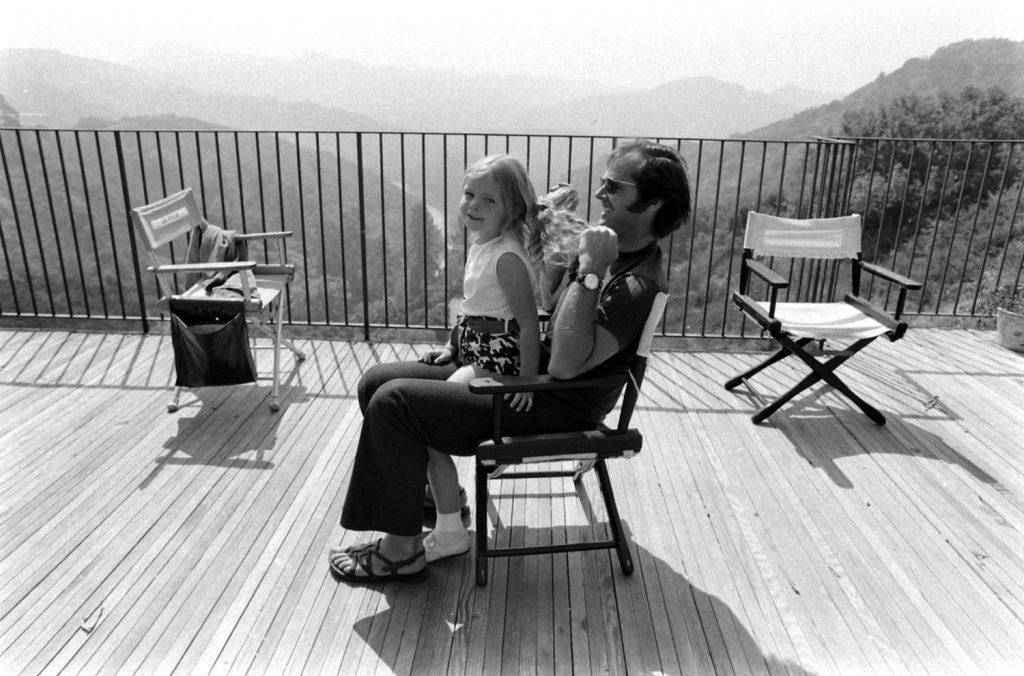 Jack Nicholson and daughter Jennifer, 1969.