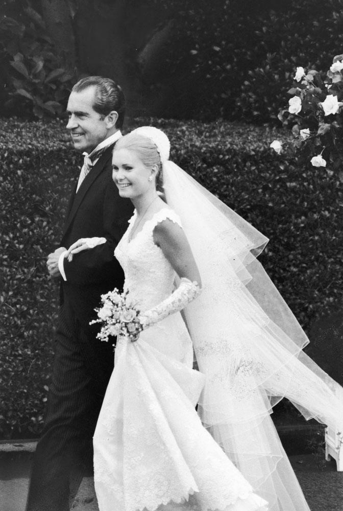 Richard Nixon and daughter Patricia, 1971.