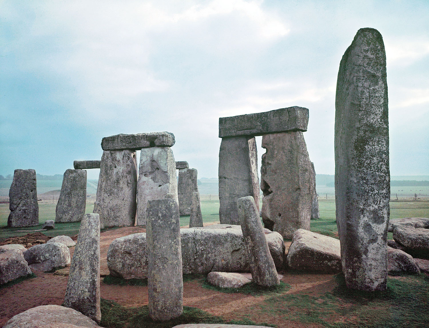 Stonehenge, photographed in 1955