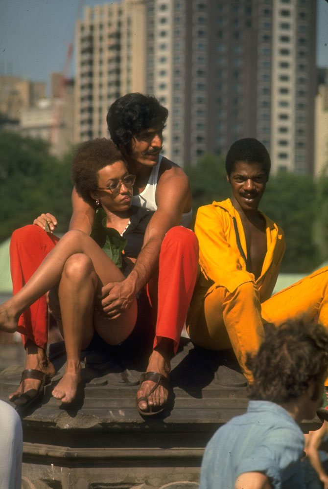 Young people at Bethesda Fountain in Central Park, 1969.