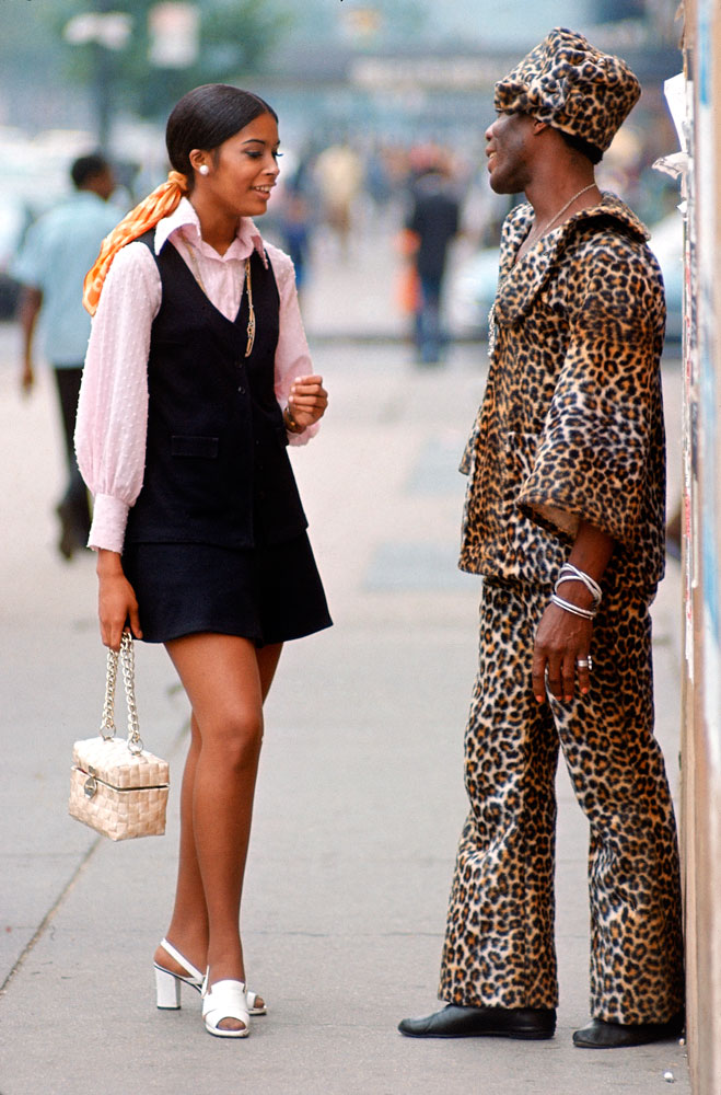 A couple on the street in New York, summer 1969.