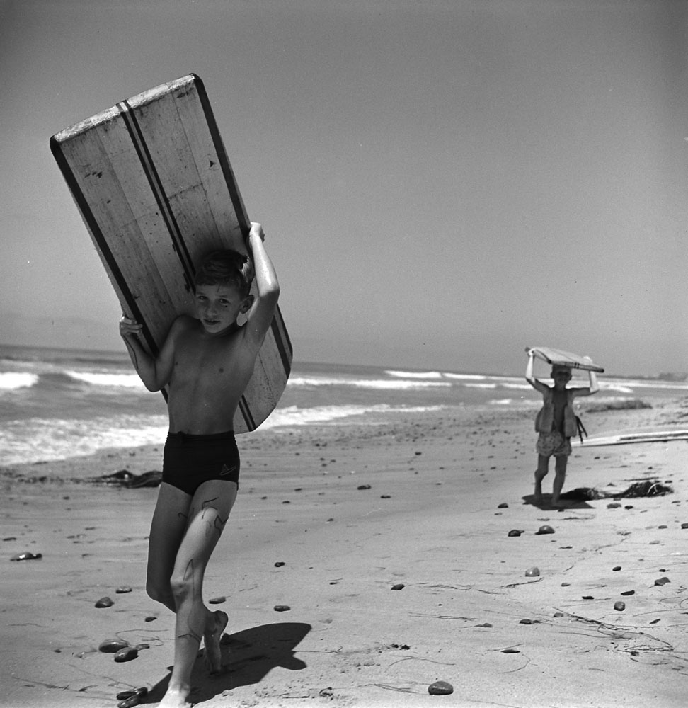 Surfers, San Onofre, Calif., 1950.