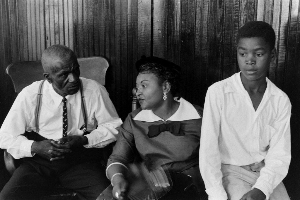 From left: Emmett Till's great-uncle, the Rev. Mose Wright; his mother Mamie Bradley; and his cousin Simeon Wright.
