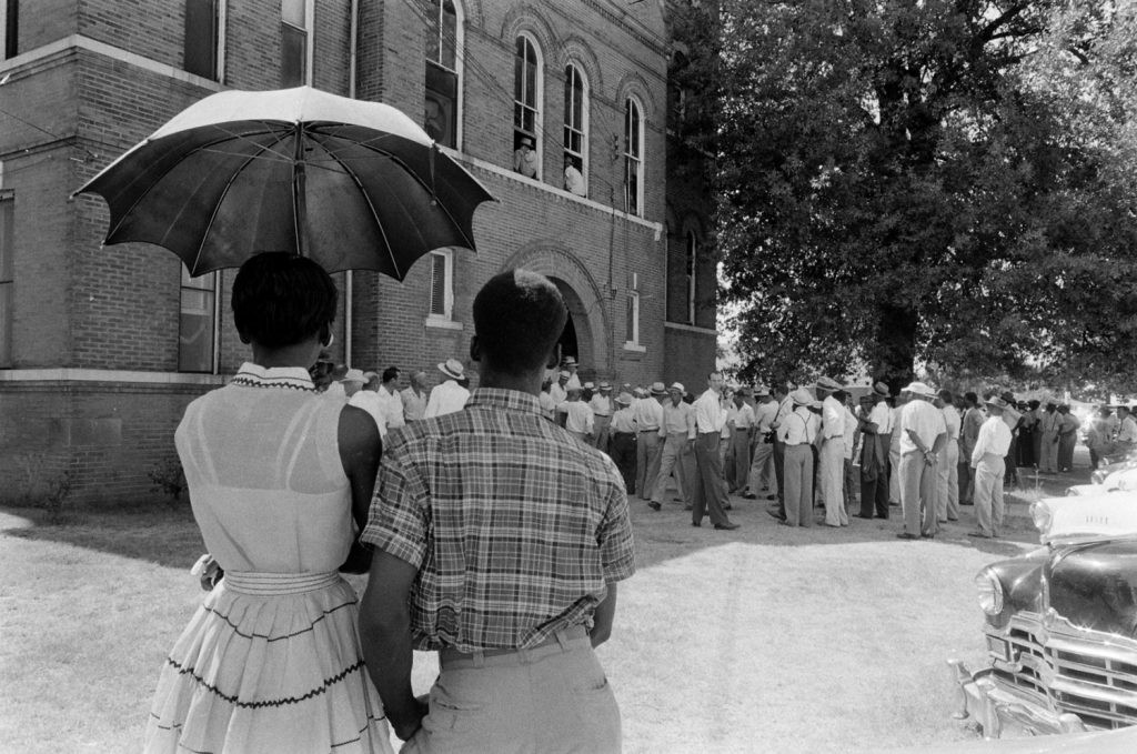 A scene in Sumner, Miss., during the trial of Roy Bryant and J.W. Milam for the kidnapping and murder of Emmett Till.