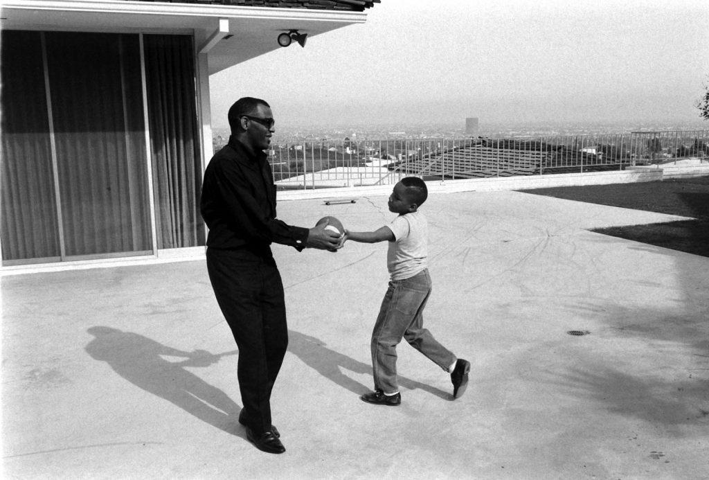 Ray Charles with his son, David, 1966.