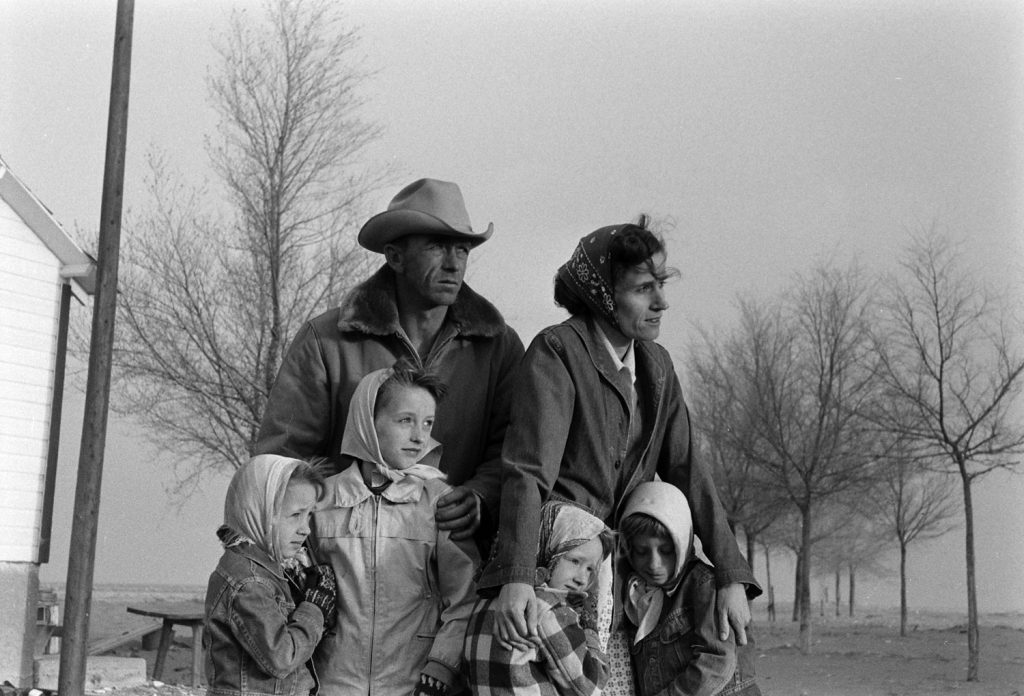 Colorado farming family during 1954 Dust Bowl.