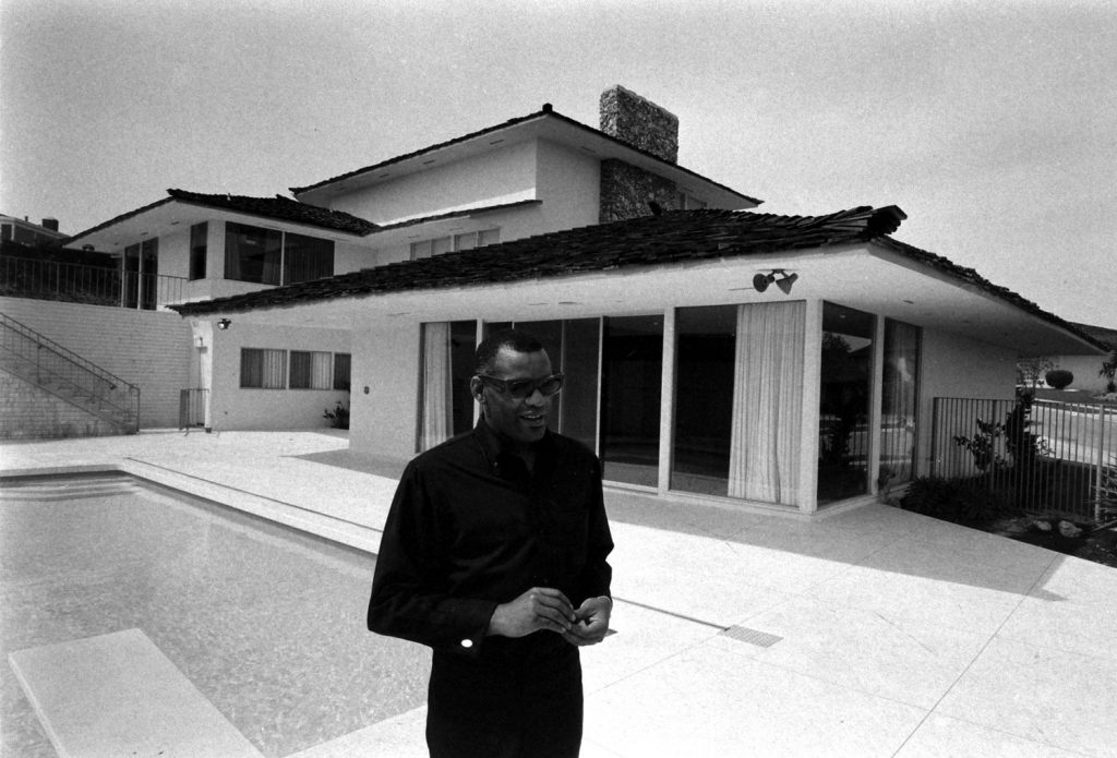 Ray Charles at home in Los Angeles, 1966.