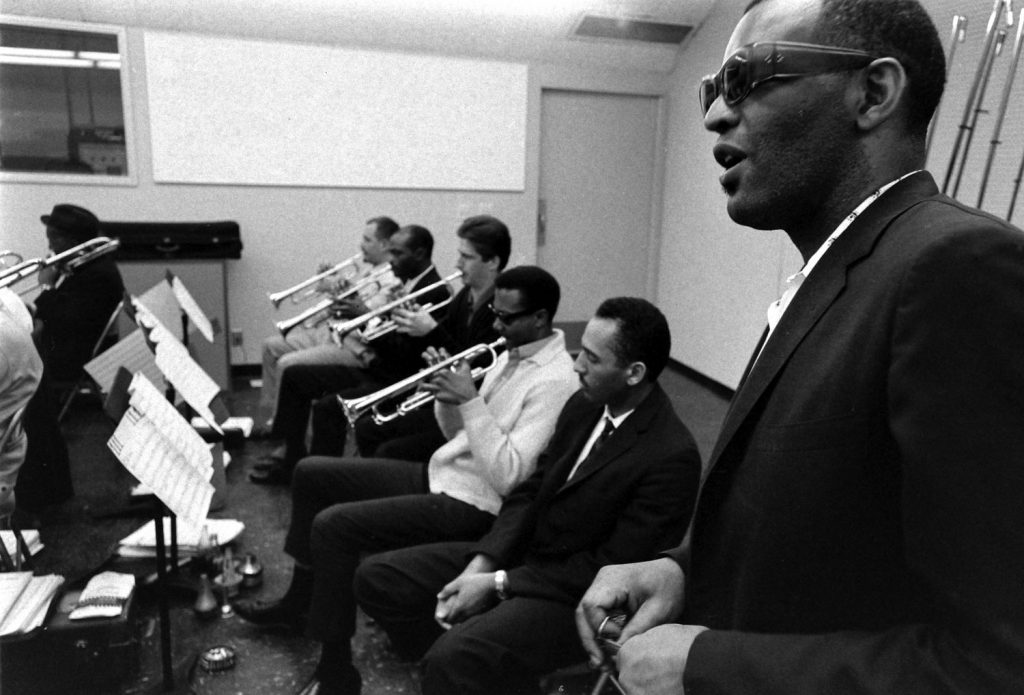 Ray Charles and orchestra, 1966.