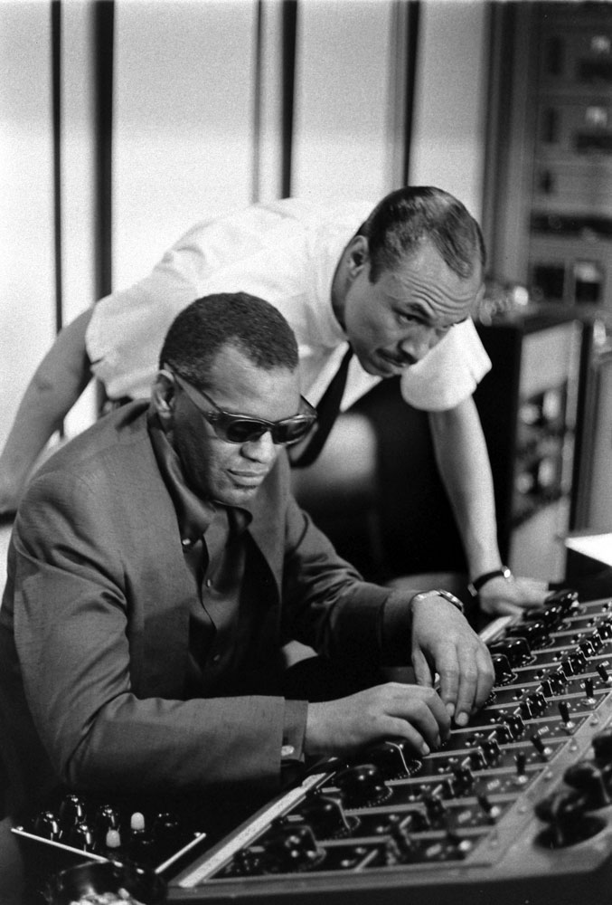 Ray Charles in the studio, 1966.